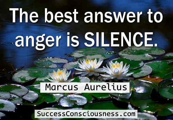 The Best Answer to Anger Is Silence