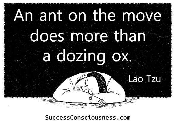 An Ant on the Move Does More than a Dozing Ox - Lao Tzu