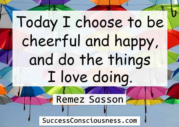 Cheerful and Happy Quote
