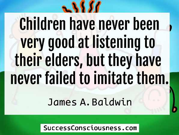 James Baldwin Quote about Childern