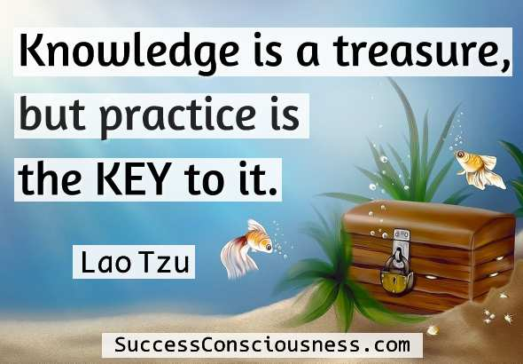 Knowledge is a treasure - Lao Tzu Quote