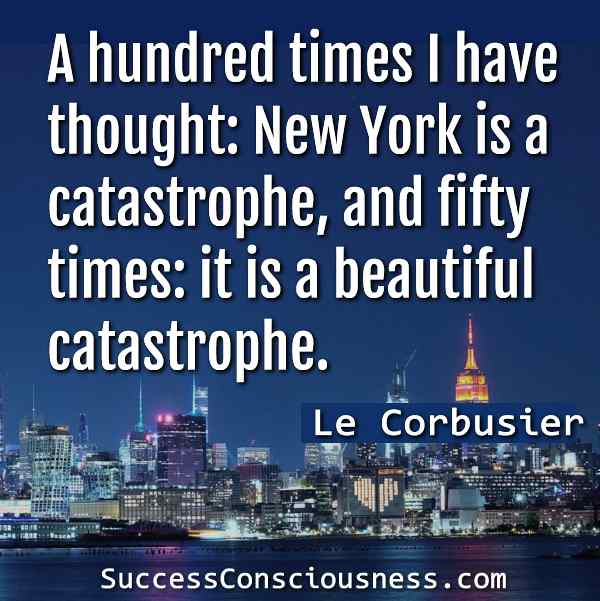 Le Corbusier about New York