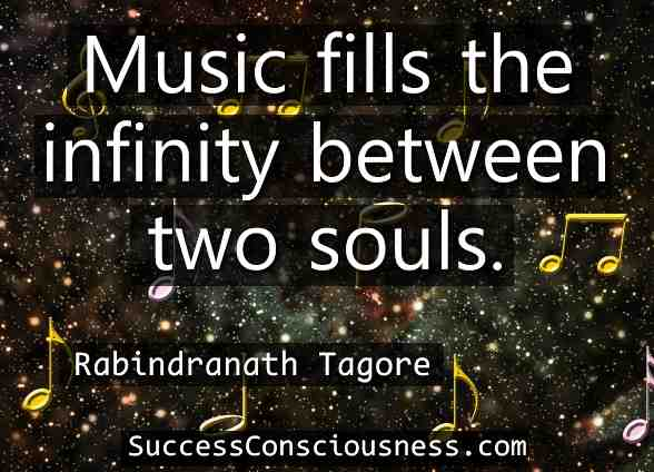 Music Fills the Infinity between Two Souls