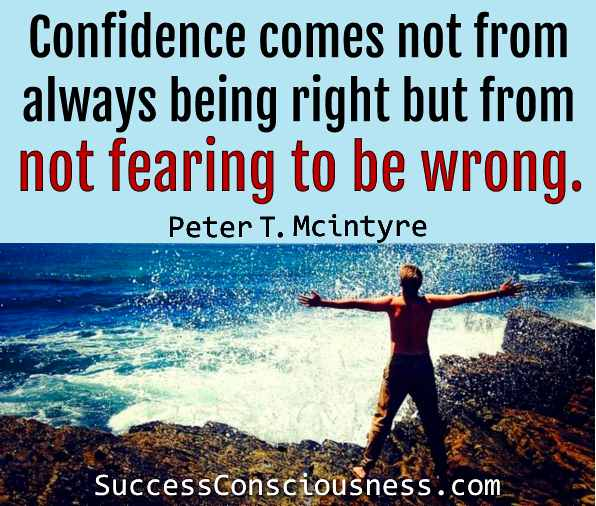 Not Fearing to Be Wrong