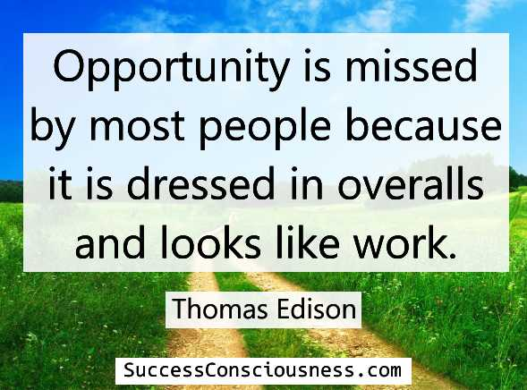 Opportunity Edison quote