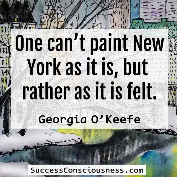 Paint New York as It Is Felt