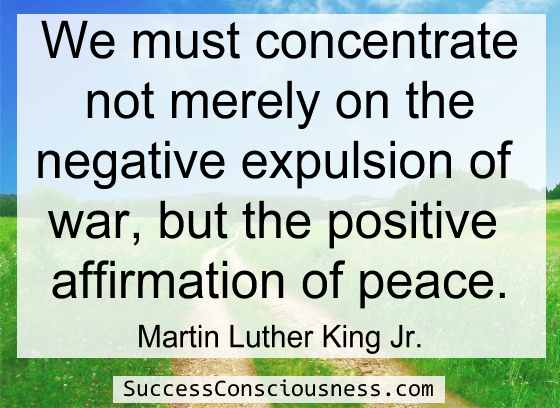 Positive Affirmation of Peace