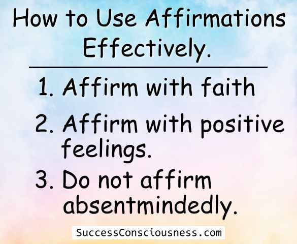 Effective use of Affirmations