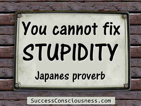 You cannot fix stupidity